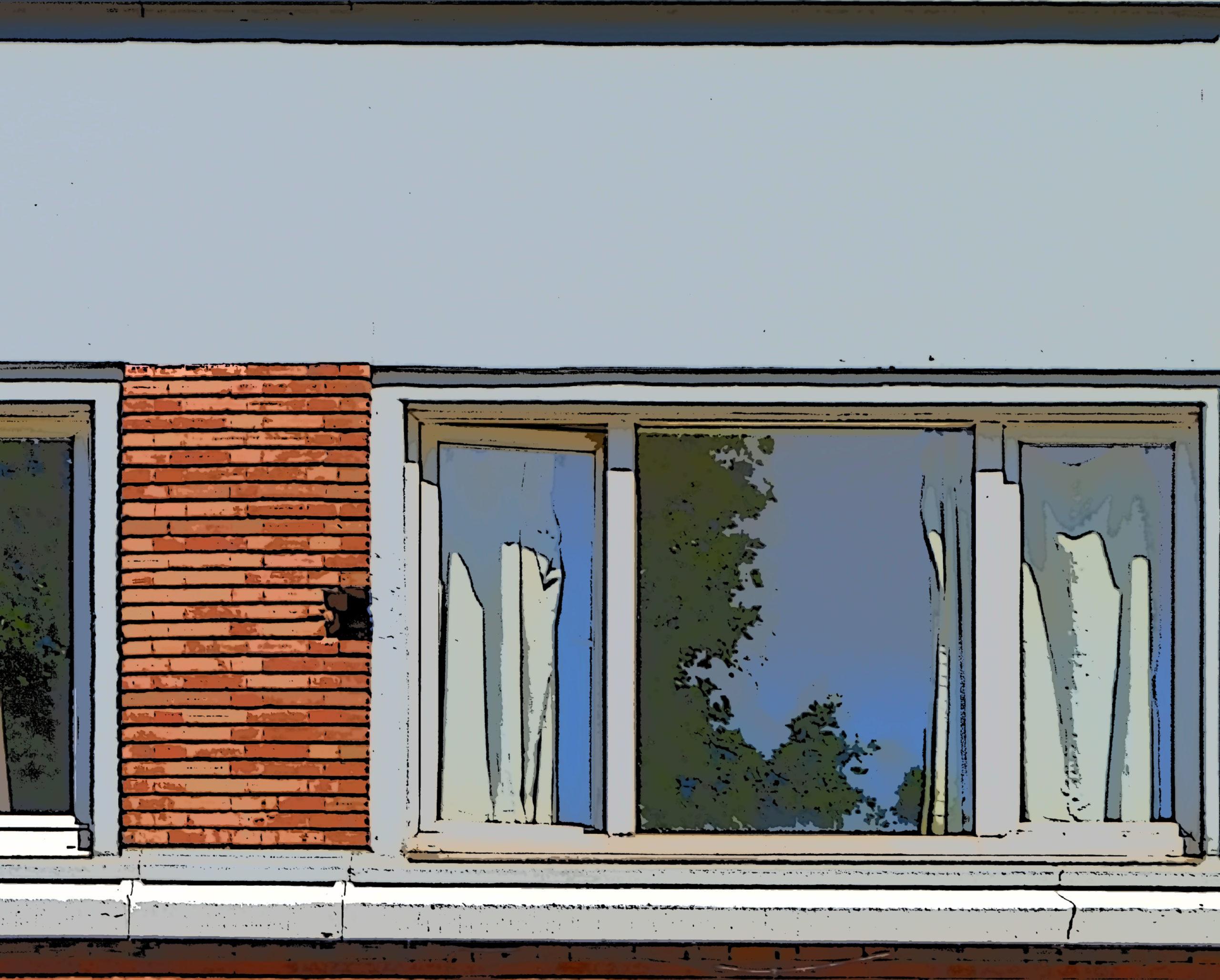 Ook door een venster, ooit.